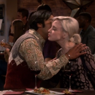 Greeting kiss.