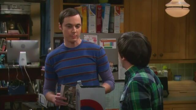 File:The shiny trinket maneuver Sheldon has a mexican peso up his nose.jpg