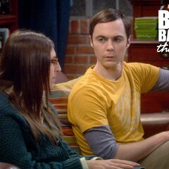 Amy tells Sheldon she has a cage he can borrow if he wants to keep the bird