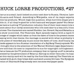 Chuck Lorre Productions, #277.