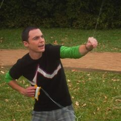 Sheldon kite fighting.
