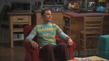 Sheldon Sitting in the Chair of Doom