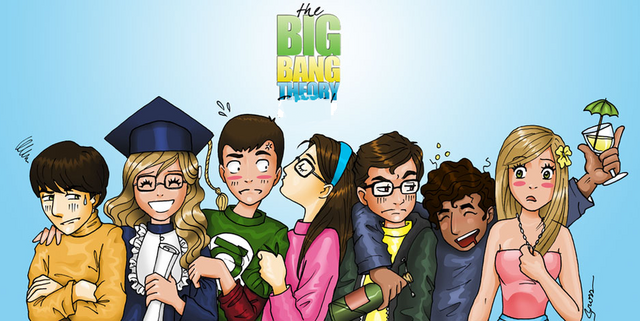 File:Big bang theory cartoon style by thegreatestmario-d532iju.png