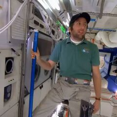 Howard in the space station.