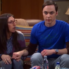 Sheldon surprises Amy.