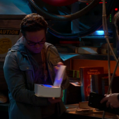 Leonard finds the black light in the book.