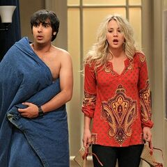 Raj and Penny are caught.