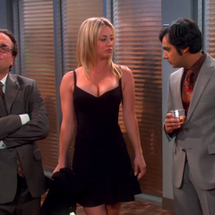 Raj noticing Penny's enhanced assets.