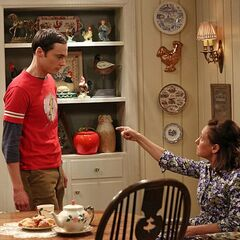 Mary Cooper sending Sheldon to his room.