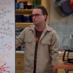 Sheldon and Leonard working on a physics problem.