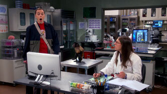 Sheldon frightened