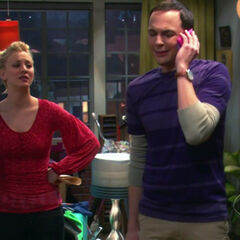 Sheldon talking to his mother after Penny