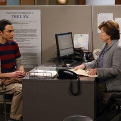 Yeadley Smith helping Sheldon find that menial job.