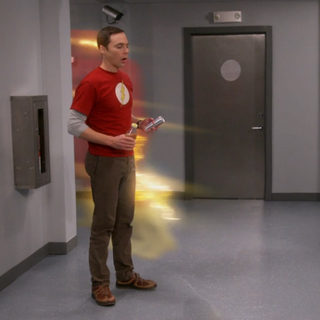 Flash leaves Sheldon.