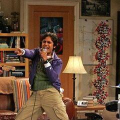 Raj singing.