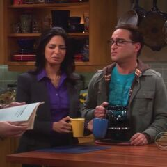 Sheldon, Priya and Leonard.