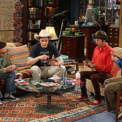 Sheldon and the guys play