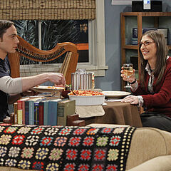 Sheldon and Amy's date night at her apartment.