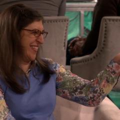Amy laughing at Sheldon's joke per the RA.