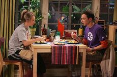 The Spaghetti Catalyst - Sheldon and Penny having dinner