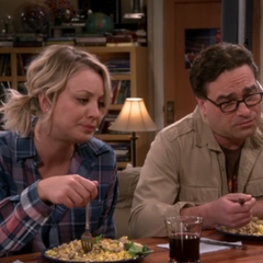 Leonard and Penny are not happy by Sheldon's trick question.