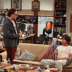 Leonard and the depressed Raj.