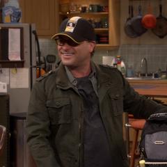 Leonard's Harry Potter Hufflepuff hat.