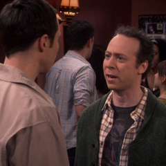 Stuart paid to yell at Sheldon.
