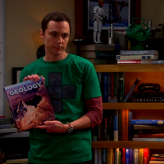 Good Lord. Sheldon found a geology book in their apartment.