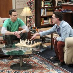 Sheldon letting Leonard know when he's going to win.