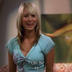 Penny's first reaction to meeting Leonard and Sheldon.