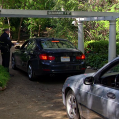 Pulling up to the real Skywalker Ranch guard gate.