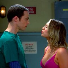 AR: Penny attempts to kiss Sheldon.
