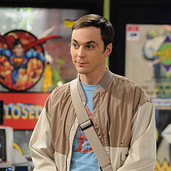 Sheldon at the comic book store.