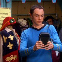 Sheldon dressed as Mr. Spock.