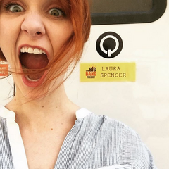 Laura is back on the set.