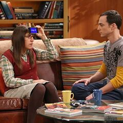 Amy's mystery person is Jay-Z, whoever that is according to Sheldon.