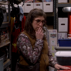 Amy in shock after leaning about Sheldon's pack rat obsession.