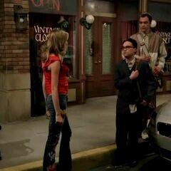 Katie meets Sheldon and Leonard.