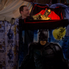 Sheldon in his fort! Come in, Amy.