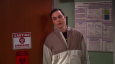 Sheldon goes back to Amy's lab