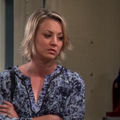 Penny watching Sheldon pretend it's 2003.