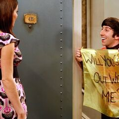 Howard asking Missy out.
