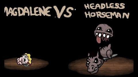 "Binding of Isaac Rebirth ""Headless horseman"" boss"