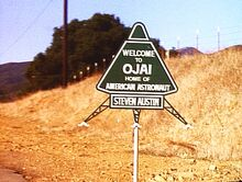 Ojai roadsign