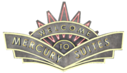 Mercury Suites Sign