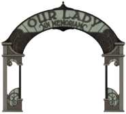 Our Lady in Memoriam sign
