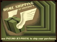 Jet-Postal Home Shipping at Fontaine's Poster