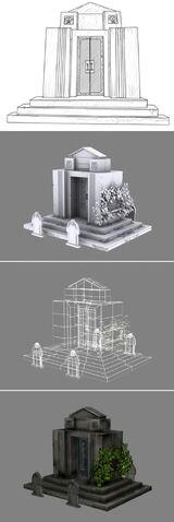 File:BioShock Arcadia Memorial Garden Mausoleum Concept and Model.jpg