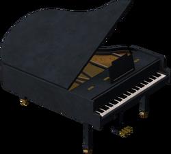 Piano Model Render
